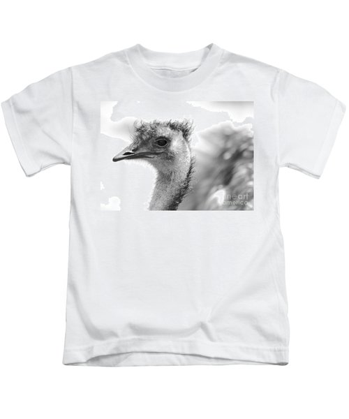 Emu - Black And White Kids T-Shirt by Carol Groenen
