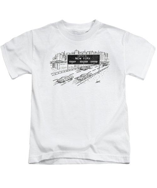 Entering New York: Beginner Kids T-Shirt