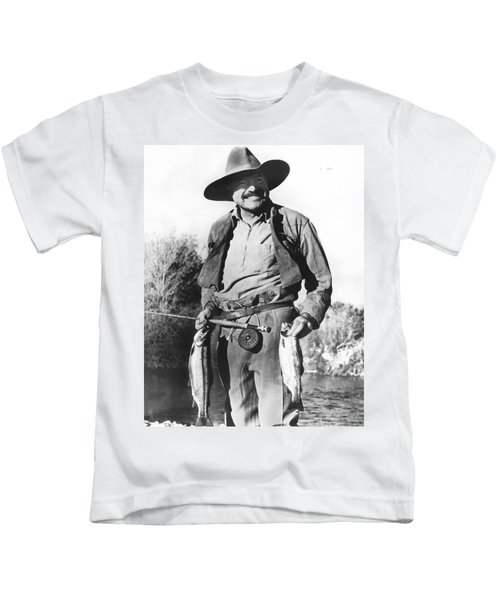 Ernest Hemingway Fishing Kids T-Shirt