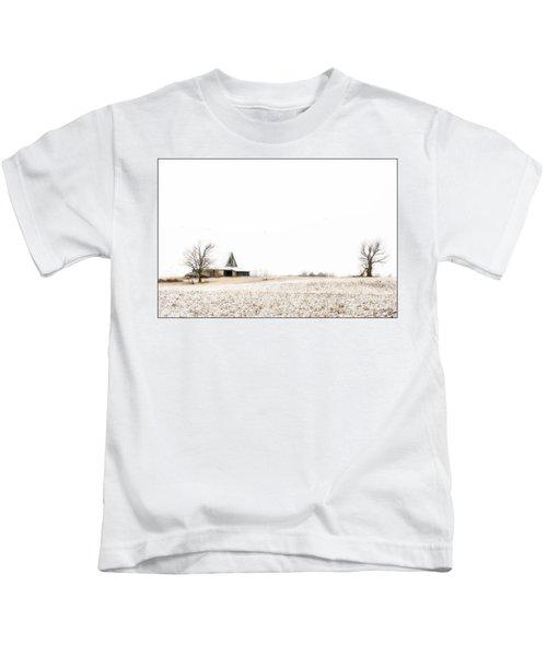Ethereal Wintry Scene Kids T-Shirt