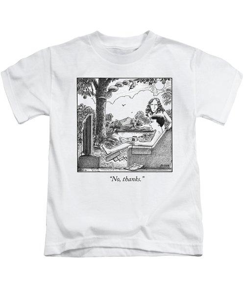 Eve Offers Adam An Apple Kids T-Shirt