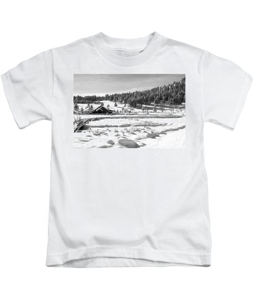 Evergreen Lake House In Winter Kids T-Shirt