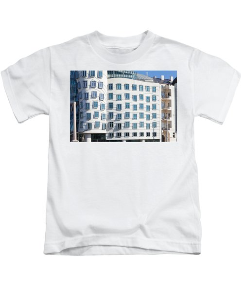 Facade Of Dancing House Or Ginger Kids T-Shirt