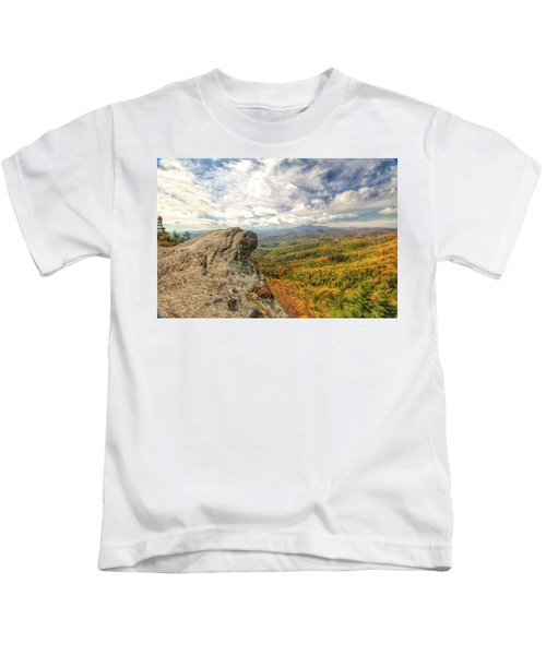 Fall From The Blowing Rock Kids T-Shirt