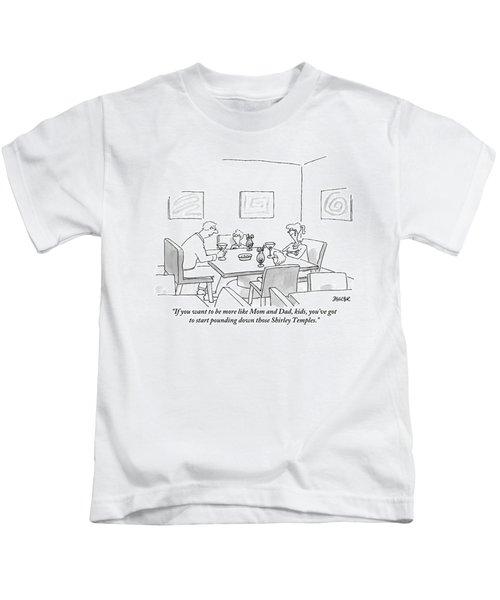 Family Around Table Kids T-Shirt