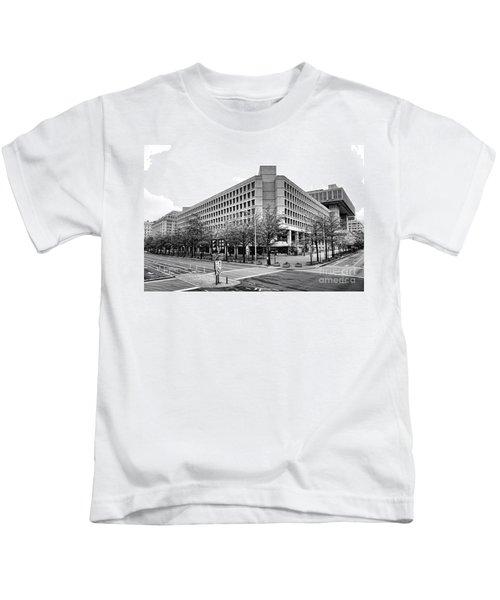 Fbi Building Front View Kids T-Shirt