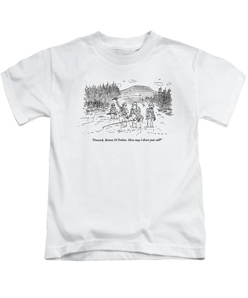 Fenwick, Benton & Perkins. How May I Direct Kids T-Shirt