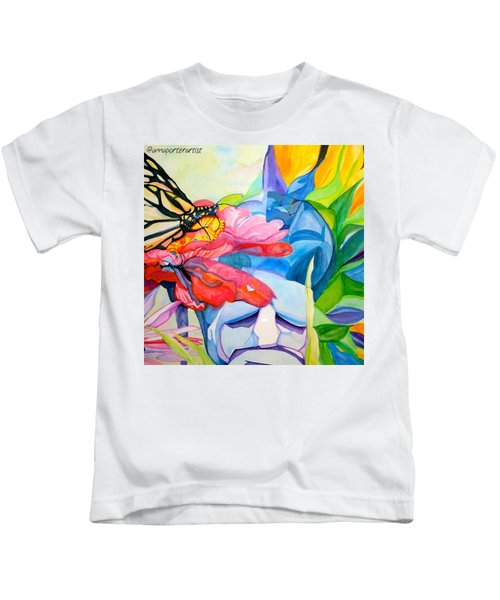 Fiji Dreams - Original Watercolor Painting Kids T-Shirt