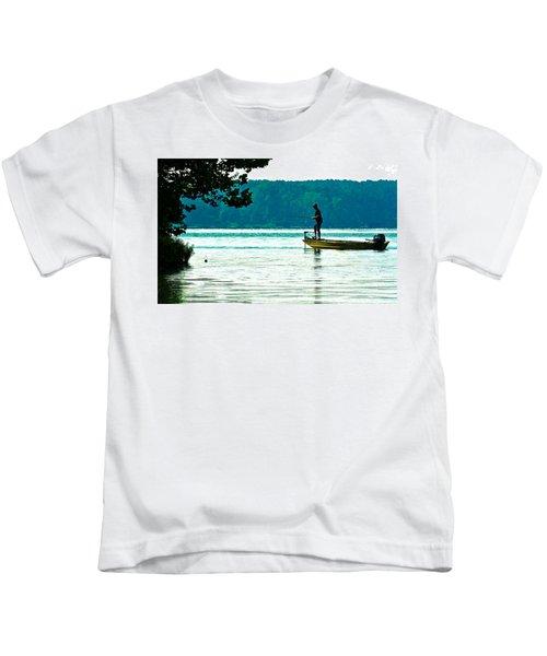 Fishing Crab Orchard Lake Kids T-Shirt