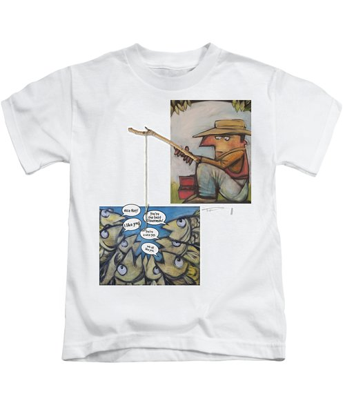Fishing For Compliments Kids T-Shirt
