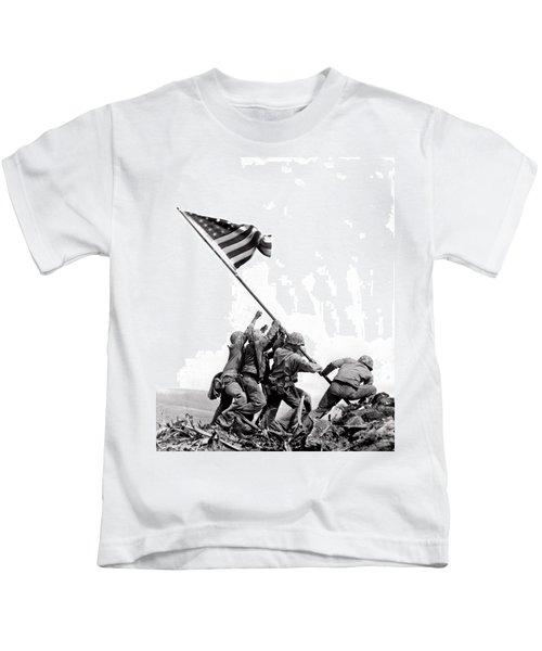 Flag Raising At Iwo Jima Kids T-Shirt