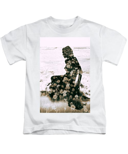 Flower Woman1 Kids T-Shirt