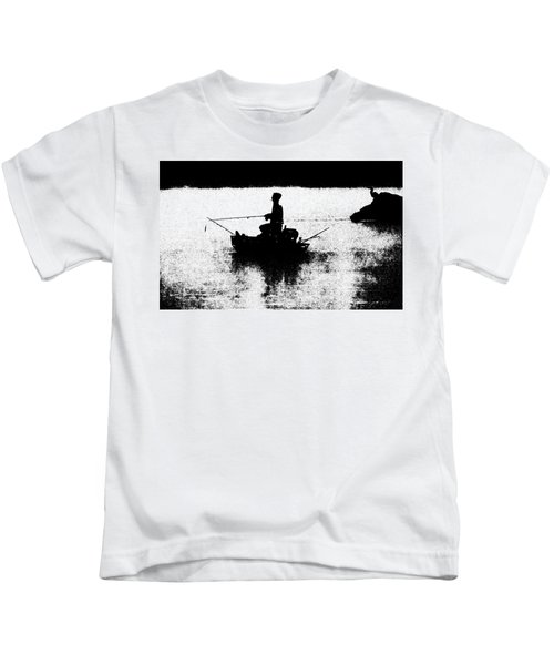 Kids T-Shirt featuring the photograph Foggy River Dawn by William Jobes