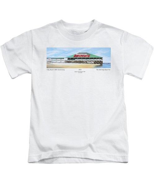 Folly Beach Original Pier Kids T-Shirt