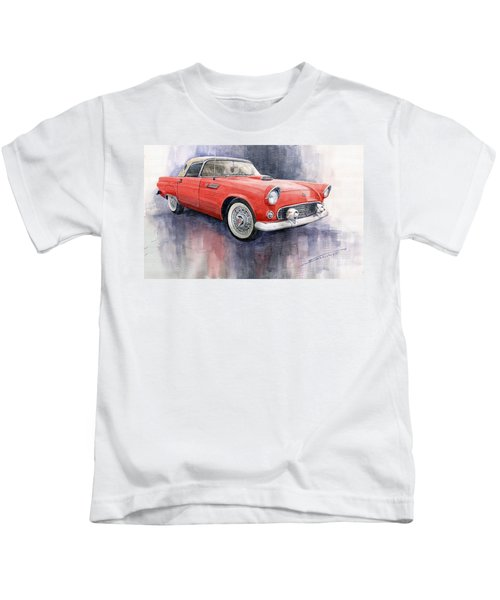 Ford Thunderbird 1955 Red Kids T-Shirt