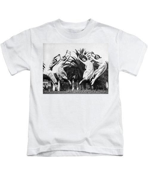 Four Leaping Grecian Dancers Kids T-Shirt
