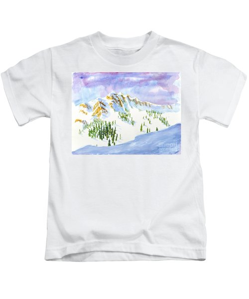 Four Sisters At Snowbasin Kids T-Shirt
