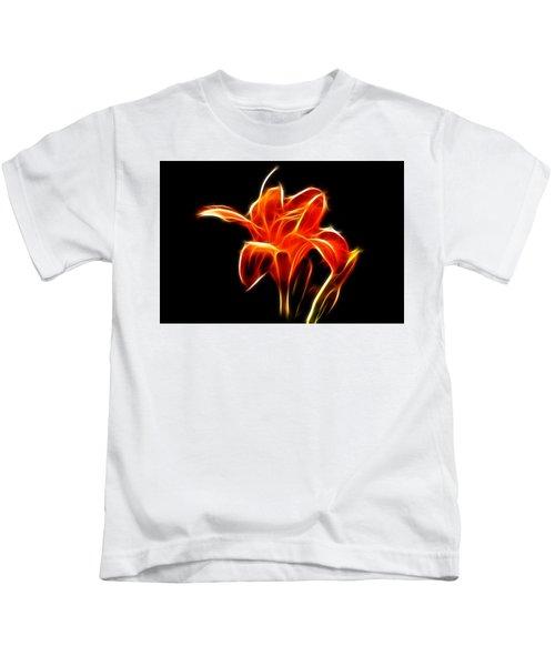 Fractaled Lily Kids T-Shirt