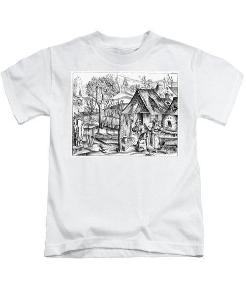 France Bread Making, 1517 Kids T-Shirt