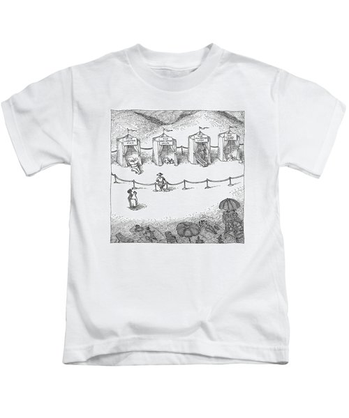 Freak Show Of Average Beach-goers Kids T-Shirt