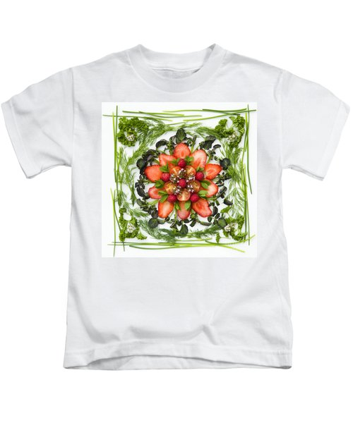 Fresh Fruit Salad Kids T-Shirt by Anne Gilbert