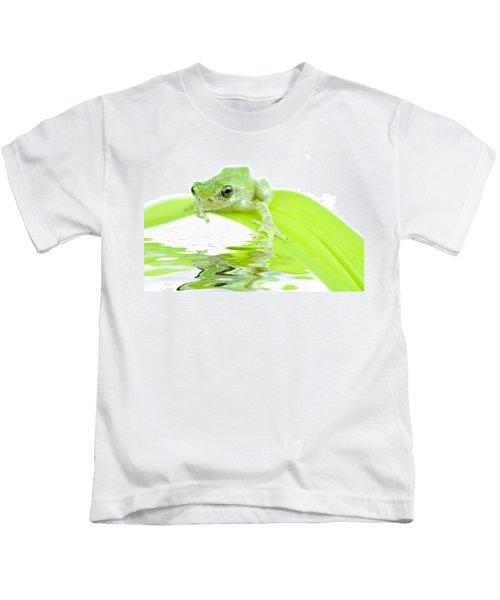 Frog On A Leaf Kids T-Shirt