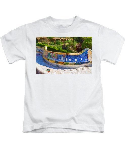 Gaudi's Park Guell - Impressions Of Barcelona Kids T-Shirt