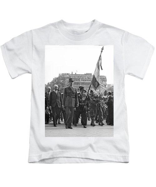 General Charles De Gaulle Kids T-Shirt
