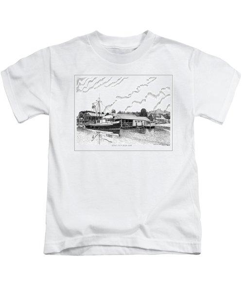 Fishing Trawler Genius Formaly Of Gig Harbor Kids T-Shirt