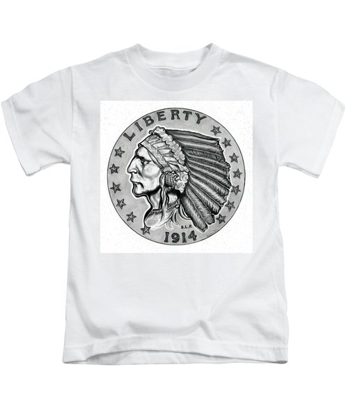 Gold Quarter Eagle Kids T-Shirt