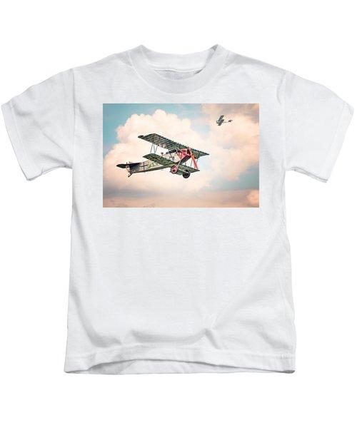 Golden Age Of Aviation - Replica Fokker D Vll - World War I Kids T-Shirt