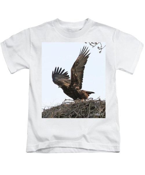 Golden Eagle Takes Off Kids T-Shirt