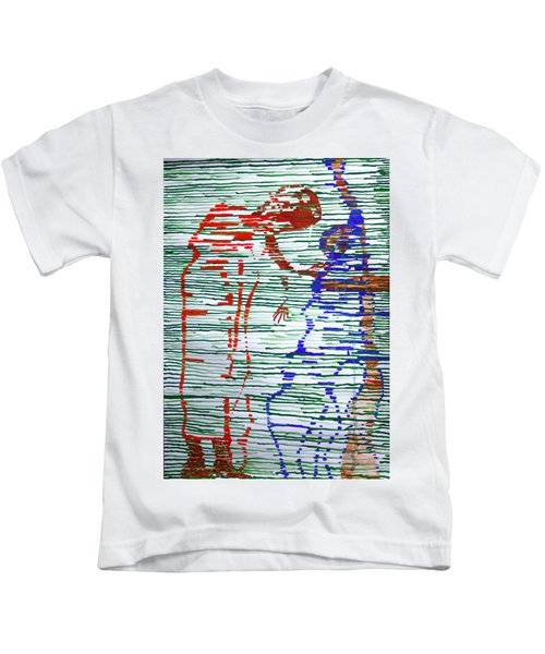 Good Friday - Jesus Meets His Mother On Calvary Kids T-Shirt