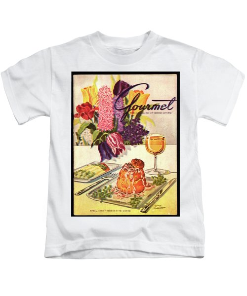 Gourmet Cover Featuring Sweetbread And Asparagus Kids T-Shirt