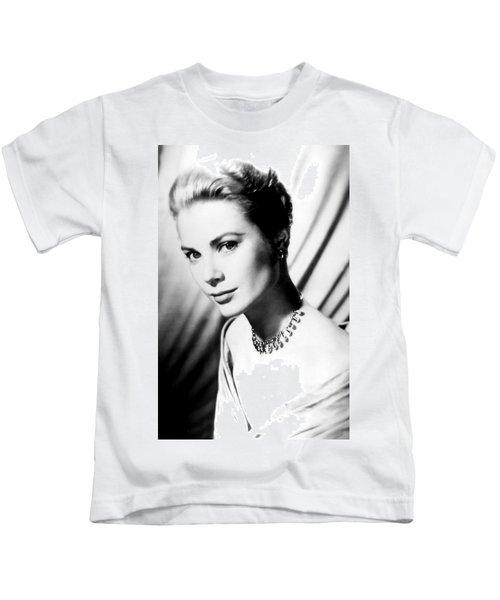 Grace Kelly Kids T-Shirt by Daniel Hagerman