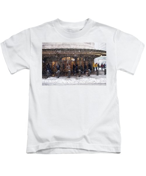 Grand Central Terminal Snow Color Kids T-Shirt
