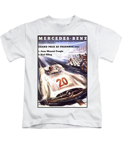 Grand Prix F1 Reims France 1954  Kids T-Shirt