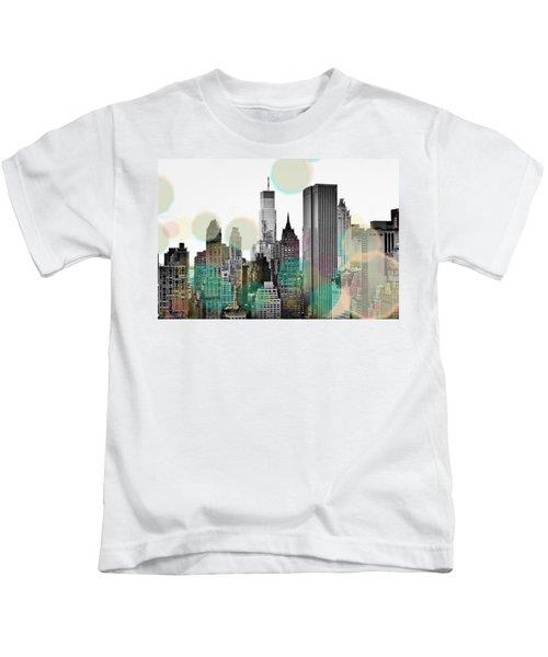 Gray City Beams Kids T-Shirt