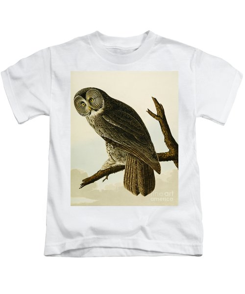 Great Cinereous Owl Kids T-Shirt