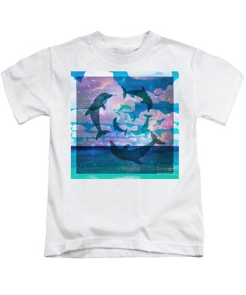 Green Dolphin Dance Kids T-Shirt