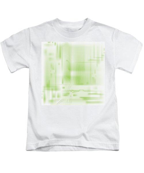 Green Ghost City Kids T-Shirt