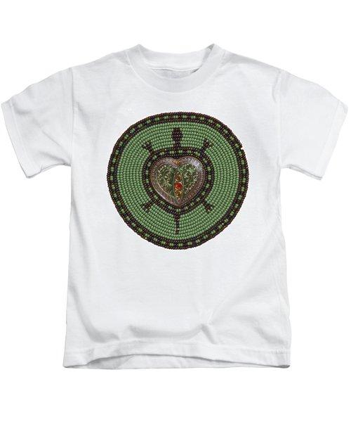 Green Heart Turtle Kids T-Shirt