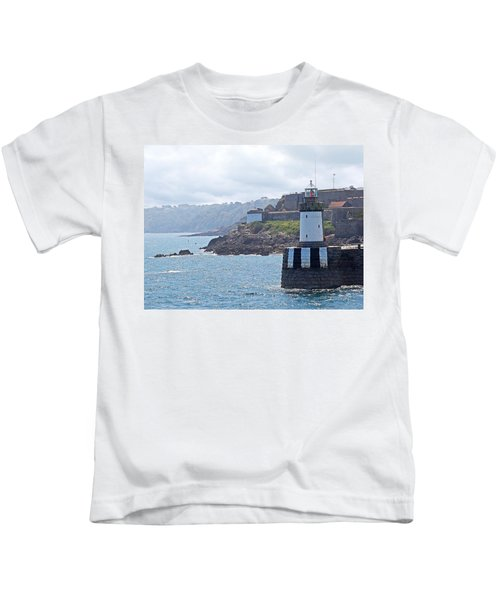 Guernsey Lighthouse Kids T-Shirt by Gill Billington
