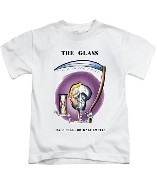 Half Full Or Half Empty Kids T-Shirt
