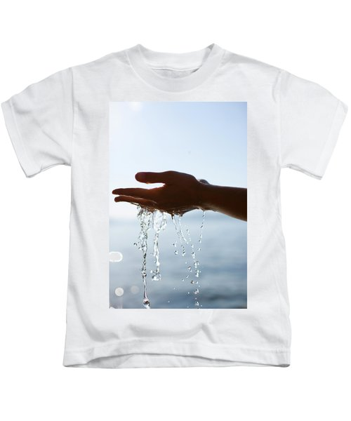 Hands With Water Flowing Kids T-Shirt