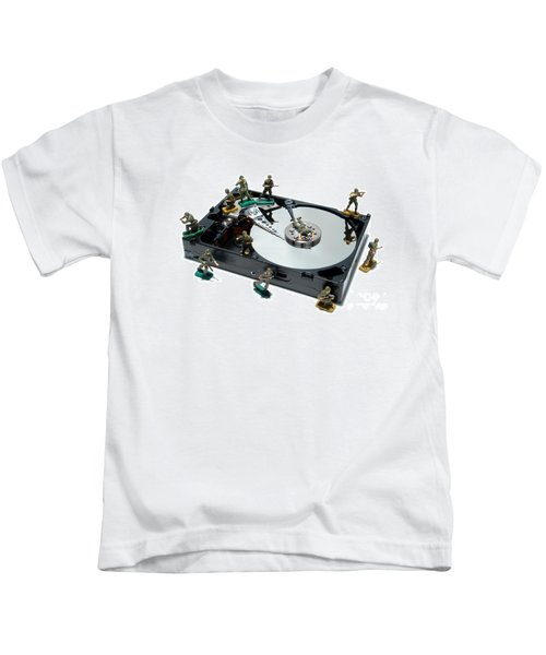 Hard Drive Defense  Kids T-Shirt