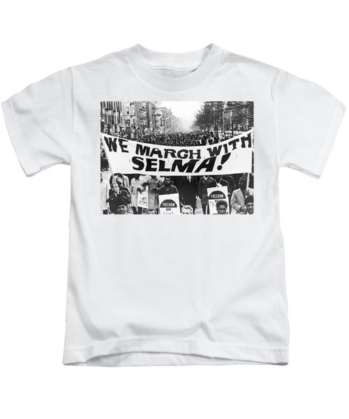 Harlem Supports Selma Kids T-Shirt by Stanley Wolfson
