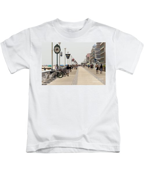 Heat Waves Make The Boardwalk Shimmer In The Distance Kids T-Shirt