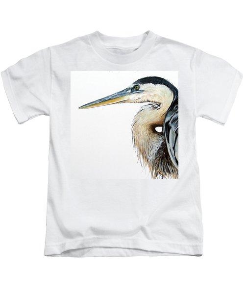 Heron Study Square Format Kids T-Shirt