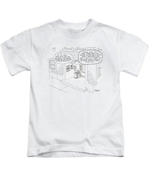 'hi.  I'm John Kids T-Shirt